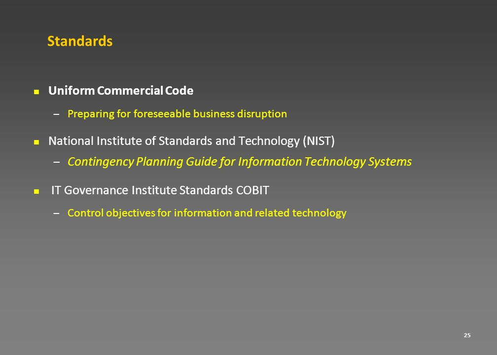 Standards Uniform Commercial Code