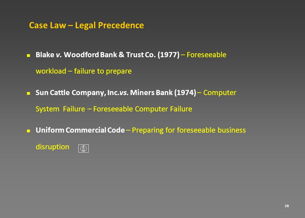 Case Law – Legal Precedence