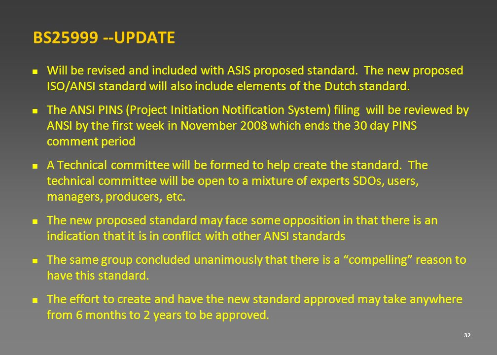 BS25999 --UPDATE