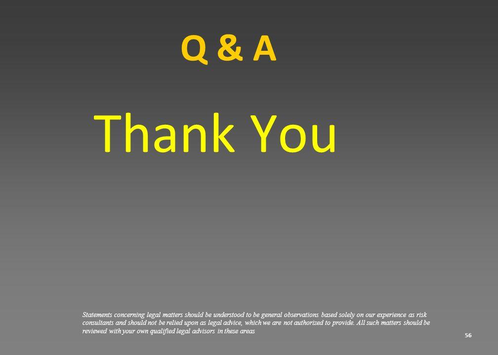 Q & A Thank You.