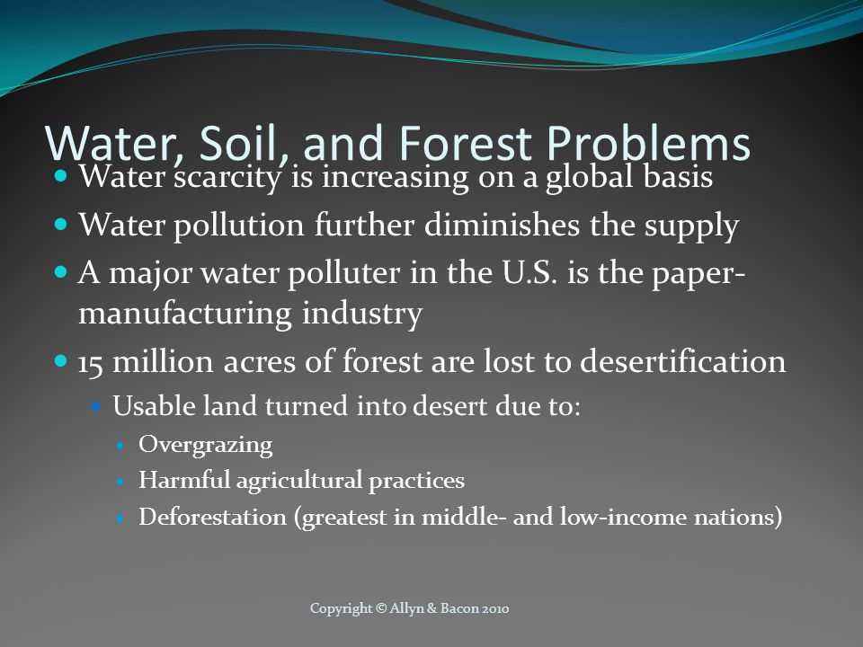 Water, Soil, and Forest Problems