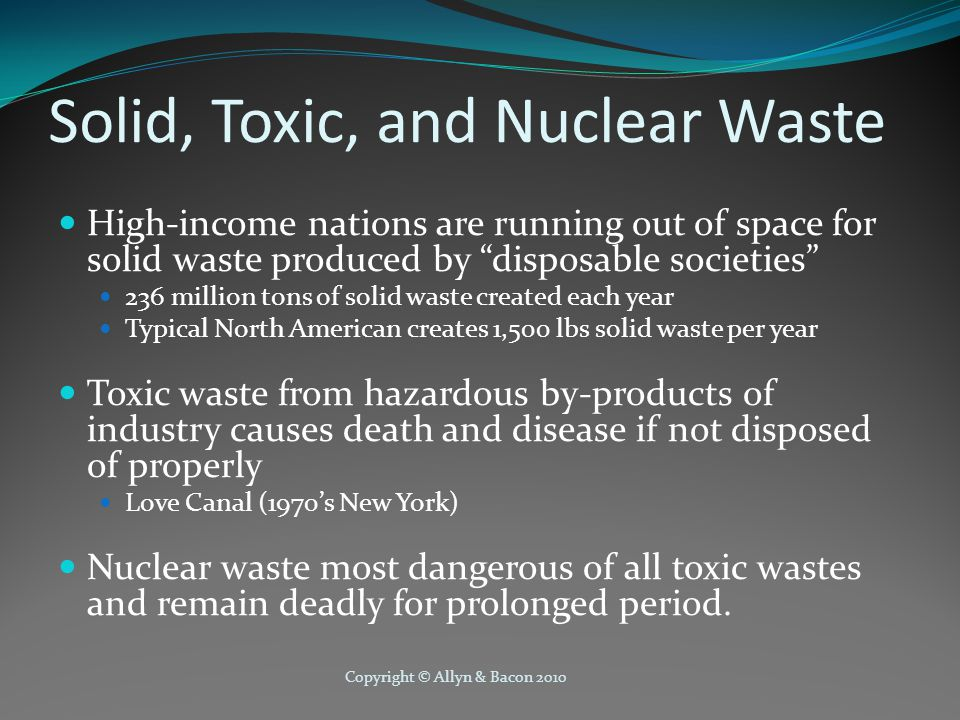 Solid, Toxic, and Nuclear Waste