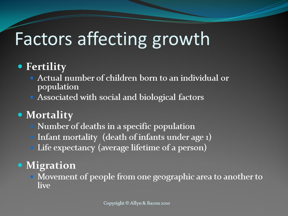 Factors affecting growth