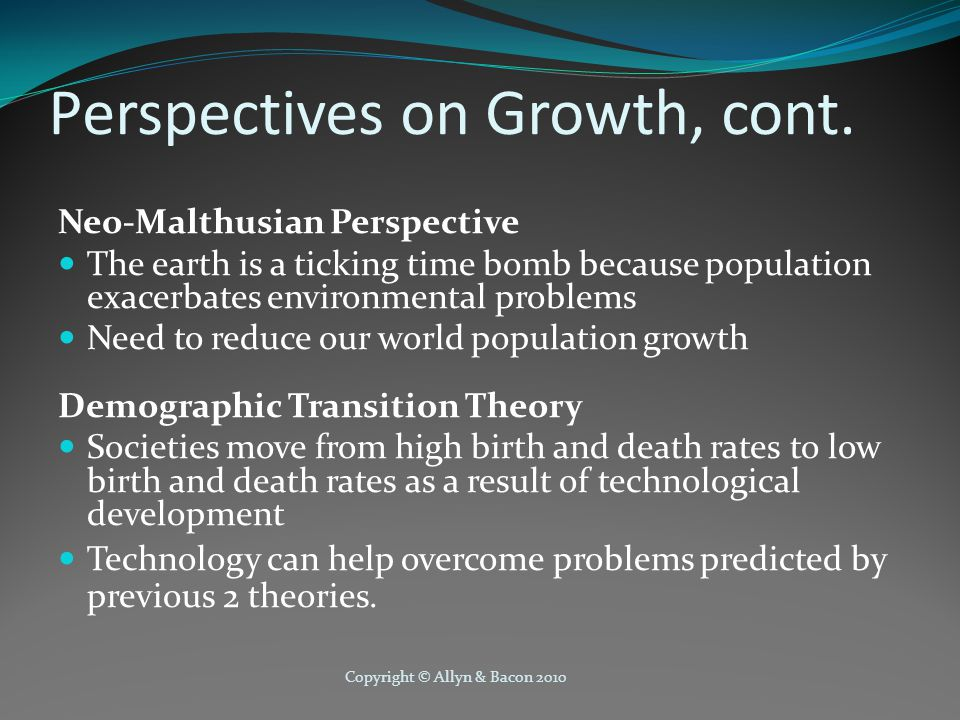 Perspectives on Growth, cont.
