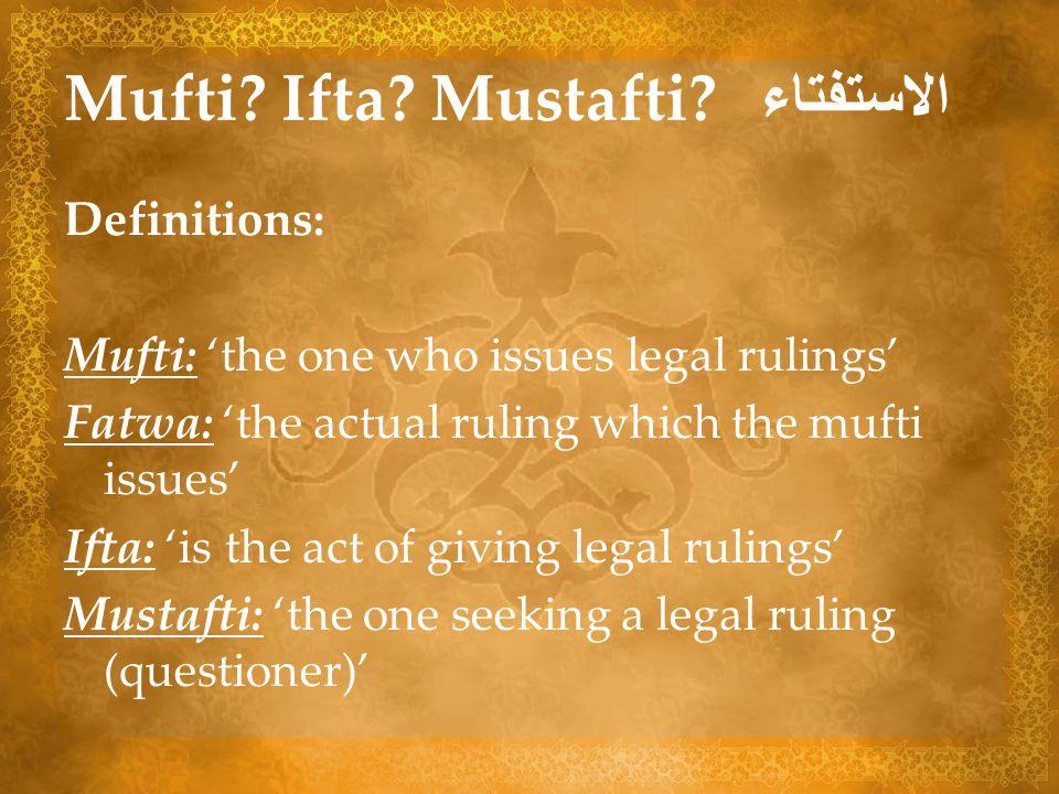 Mufti Ifta Mustafti الاستفتاء
