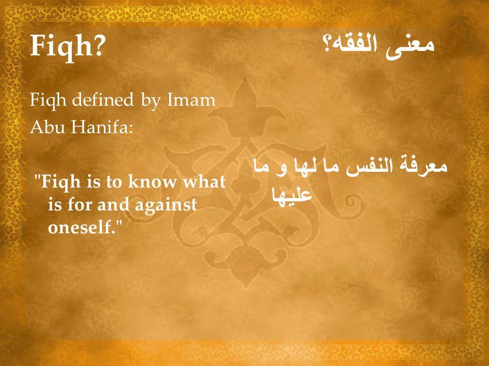 Fiqh معنى الفقه؟ معرفة النفس ما لها و ما عليها Fiqh defined by Imam