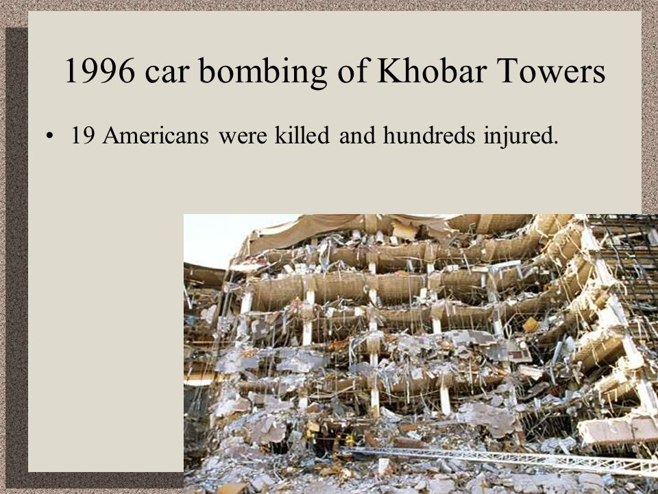 1996 car bombing of Khobar Towers