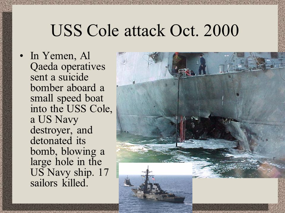 USS Cole attack Oct. 2000