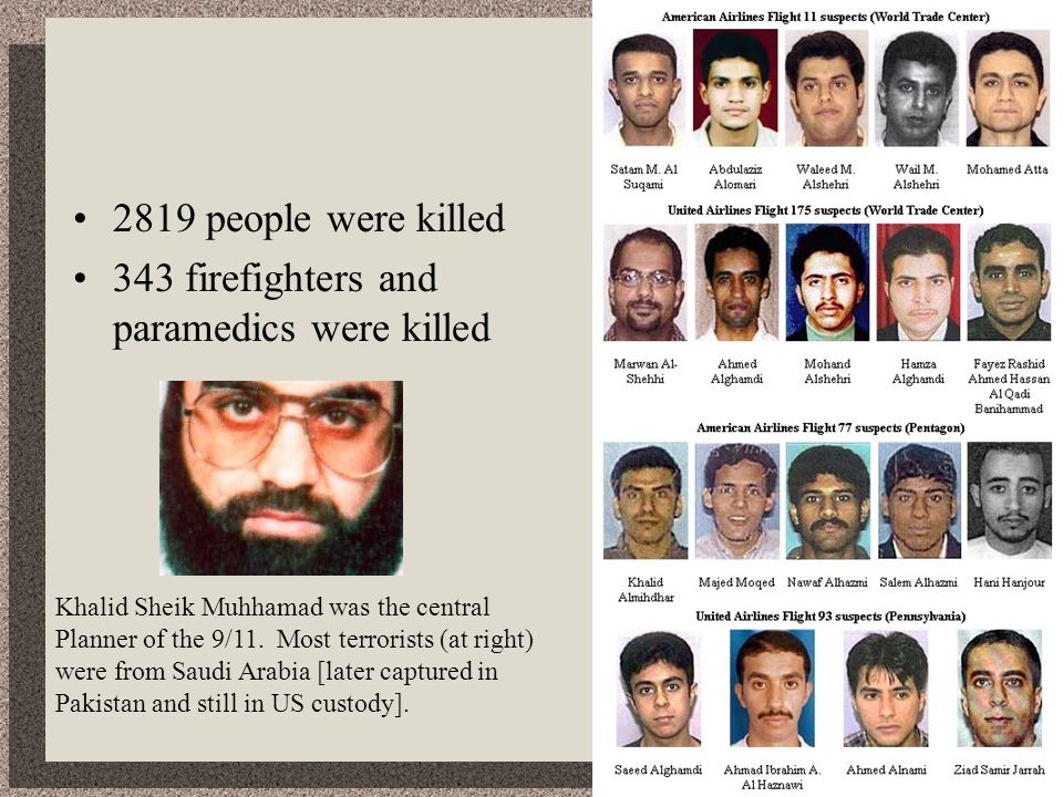 343 firefighters and paramedics were killed