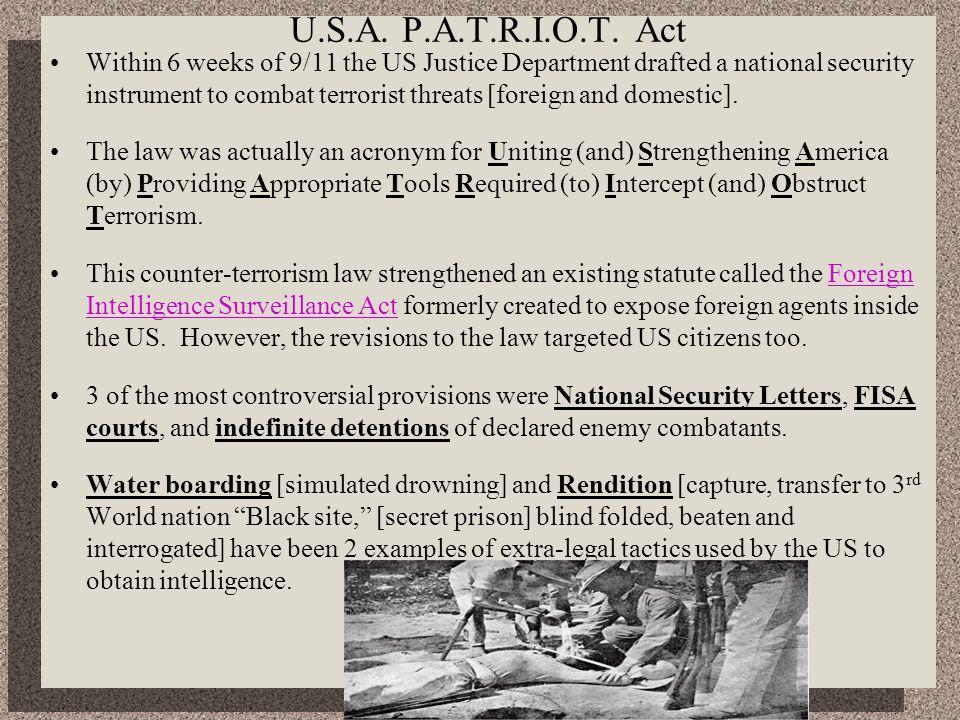 U.S.A. P.A.T.R.I.O.T. Act