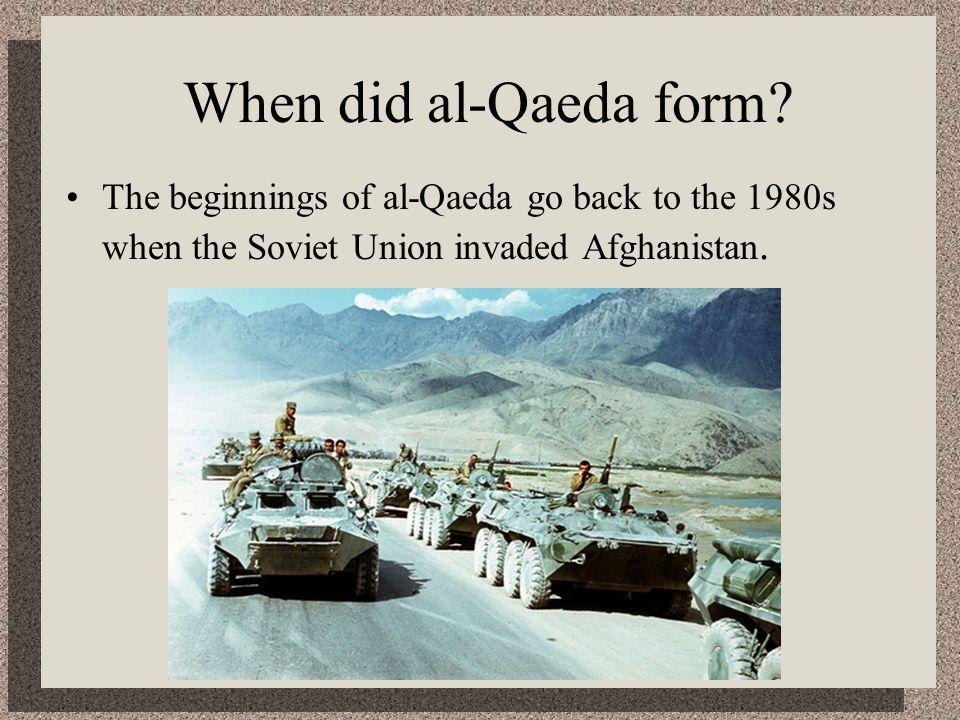 When did al-Qaeda form.