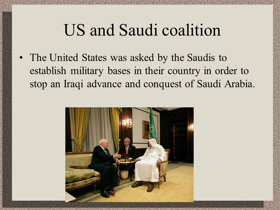 US and Saudi coalition