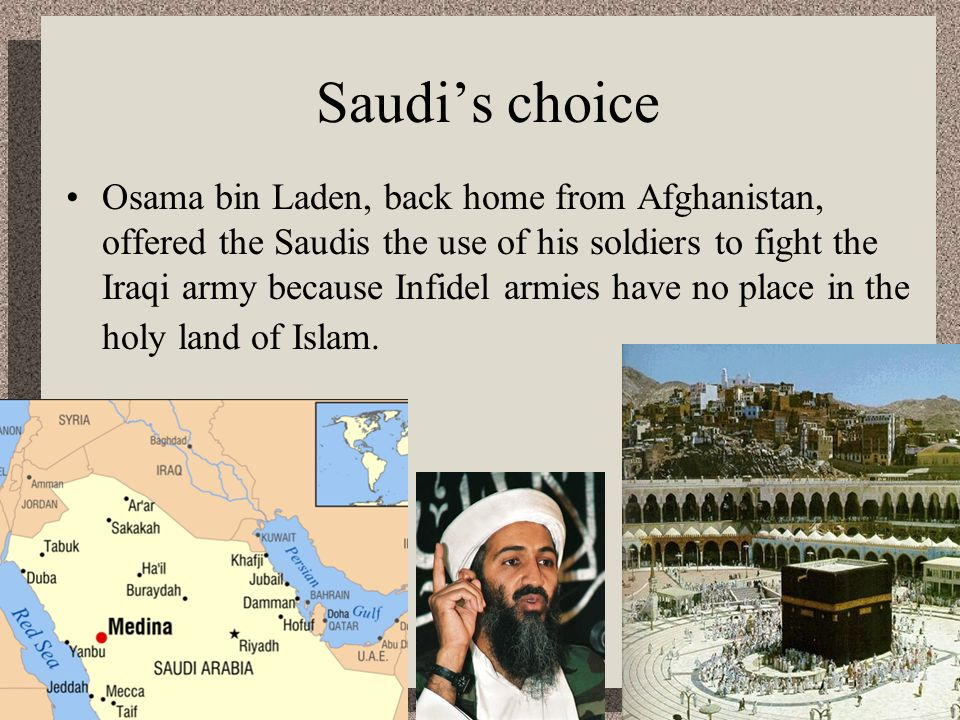Saudi's choice