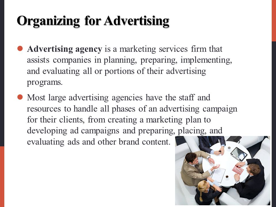 Organizing for Advertising