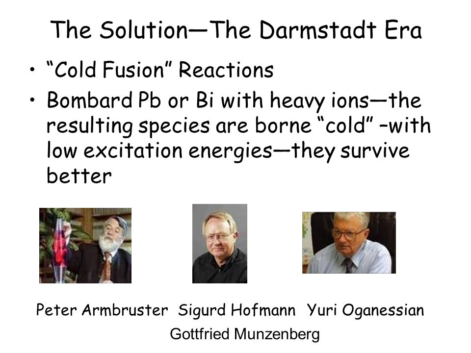 The Solution—The Darmstadt Era