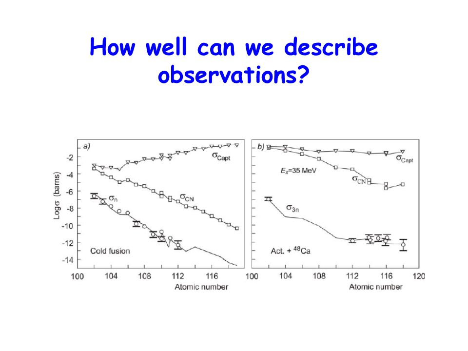 How well can we describe observations
