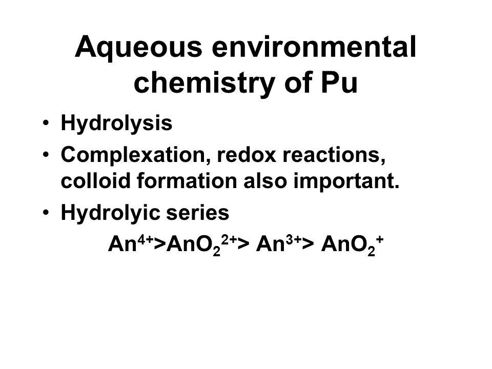 Aqueous environmental chemistry of Pu