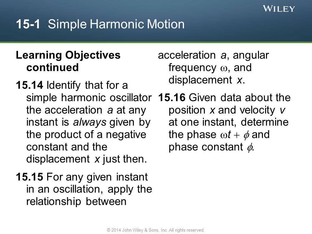 15-1 Simple Harmonic Motion
