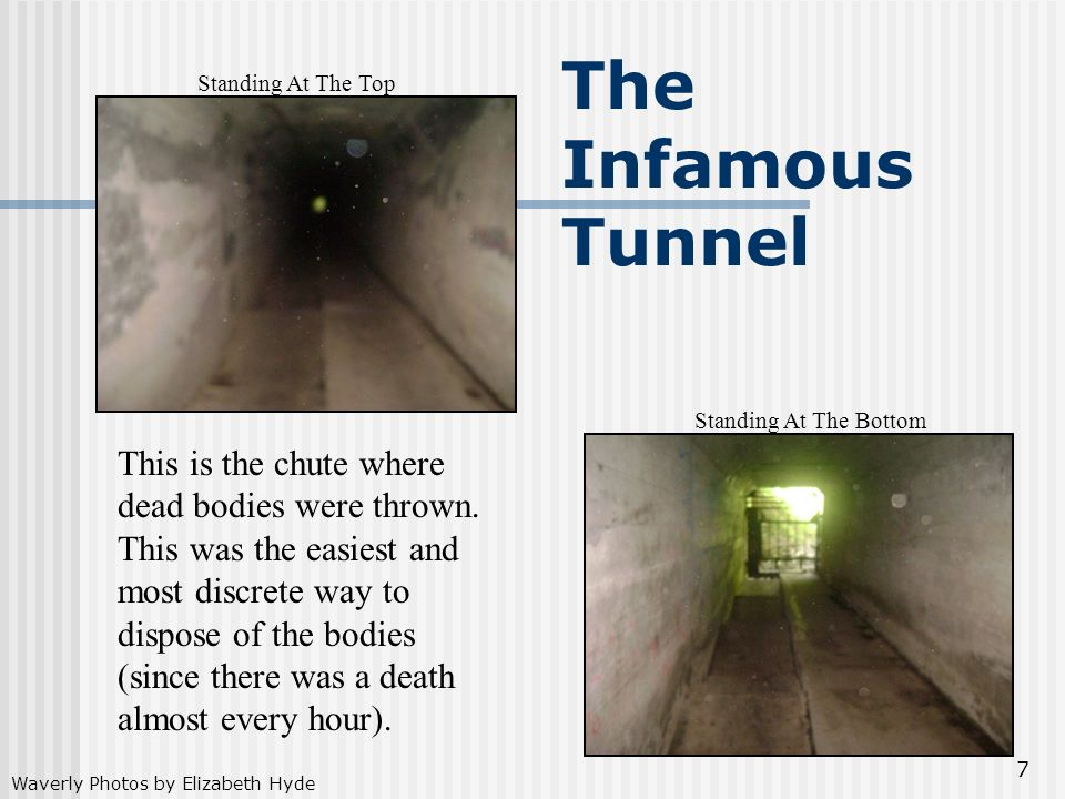 The Infamous Tunnel Standing At The Top. Standing At The Bottom.