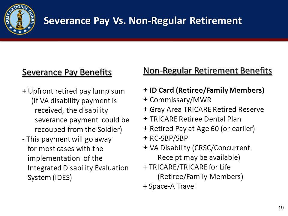 Severance Pay Vs. Non-Regular Retirement