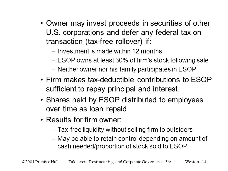 Shares held by ESOP distributed to employees over time as loan repaid