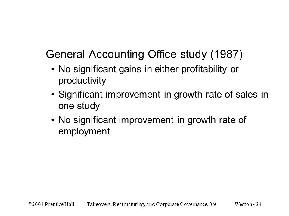 General Accounting Office study (1987)