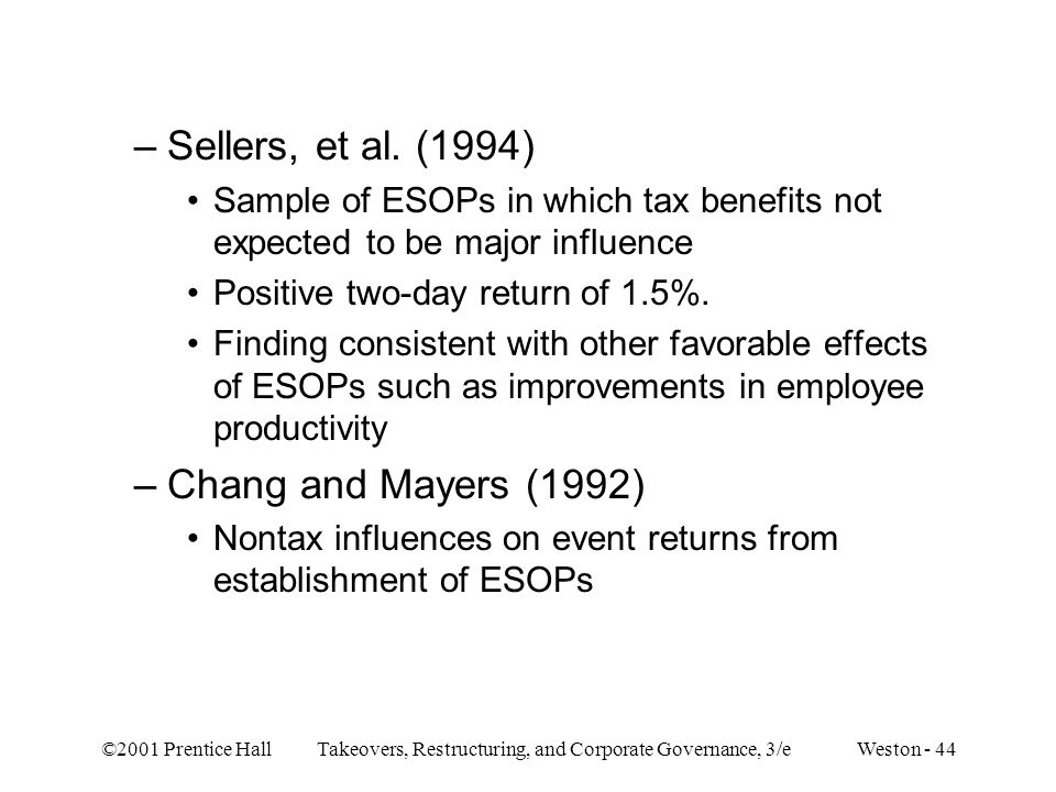 Sellers, et al. (1994) Chang and Mayers (1992)