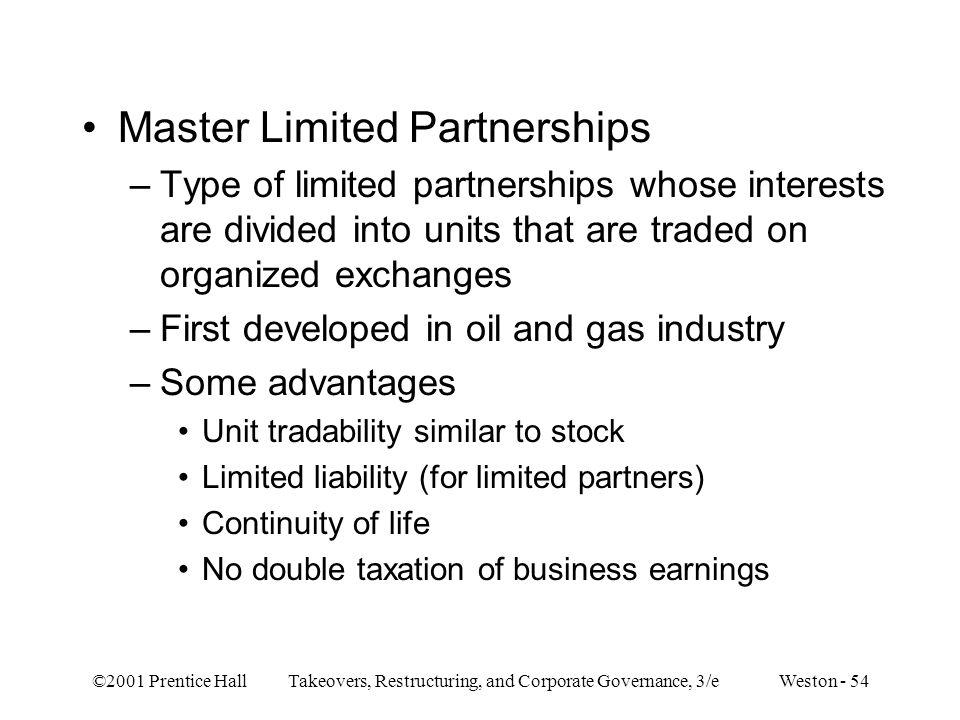 Master Limited Partnerships