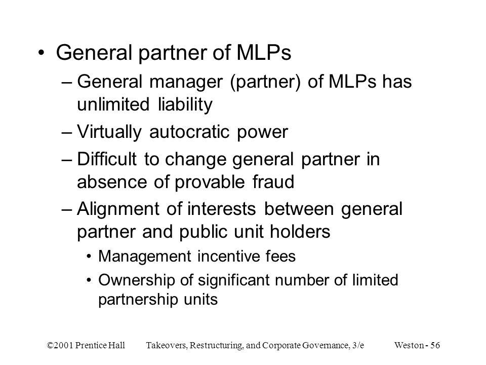 General partner of MLPs