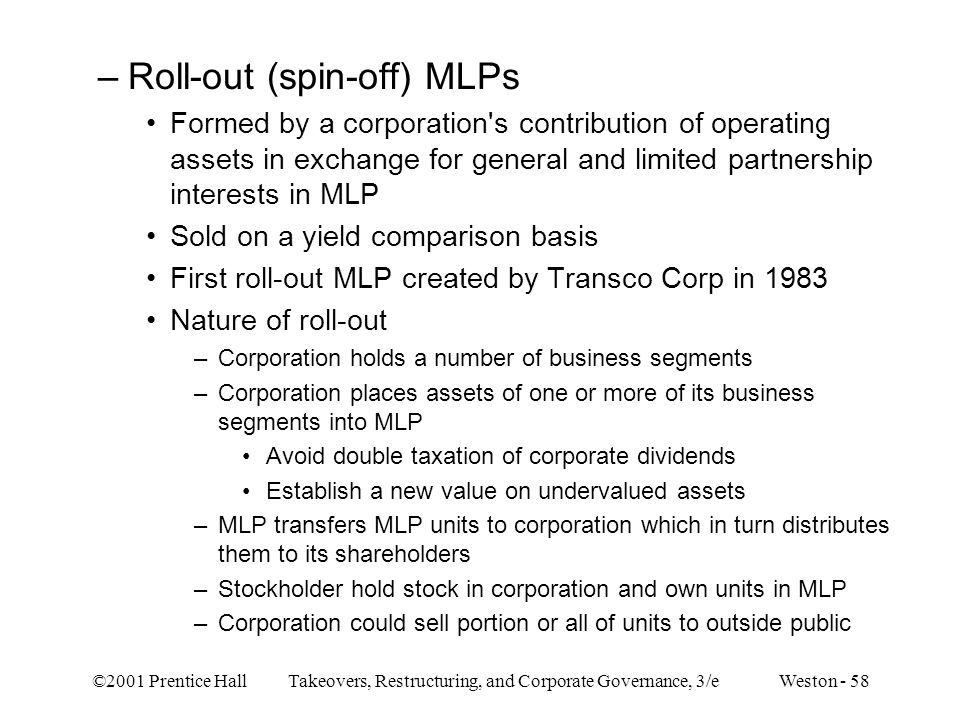Roll-out (spin-off) MLPs
