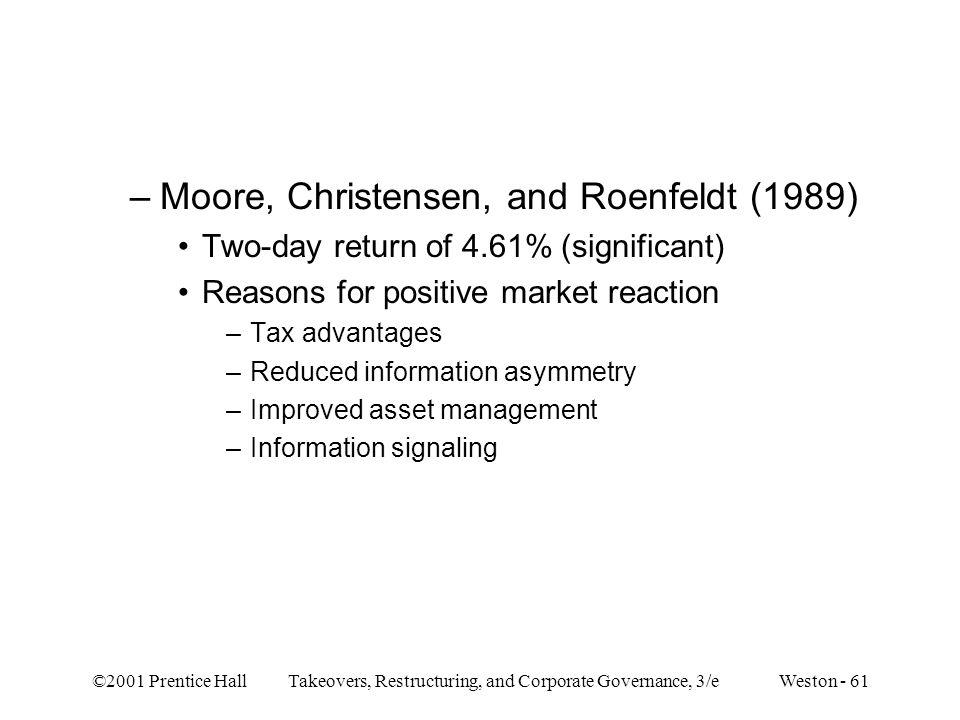 Moore, Christensen, and Roenfeldt (1989)