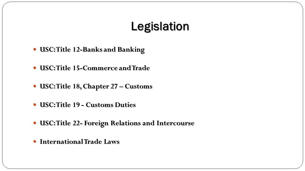 Legislation USC: Title 12-Banks and Banking