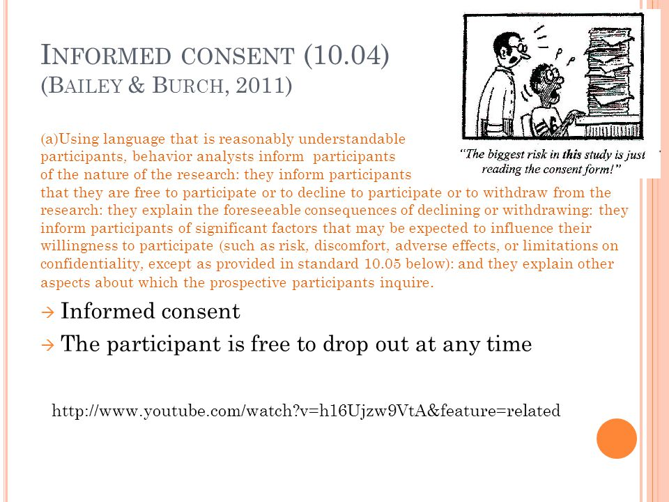 Informed consent (10.04) (Bailey & Burch, 2011)
