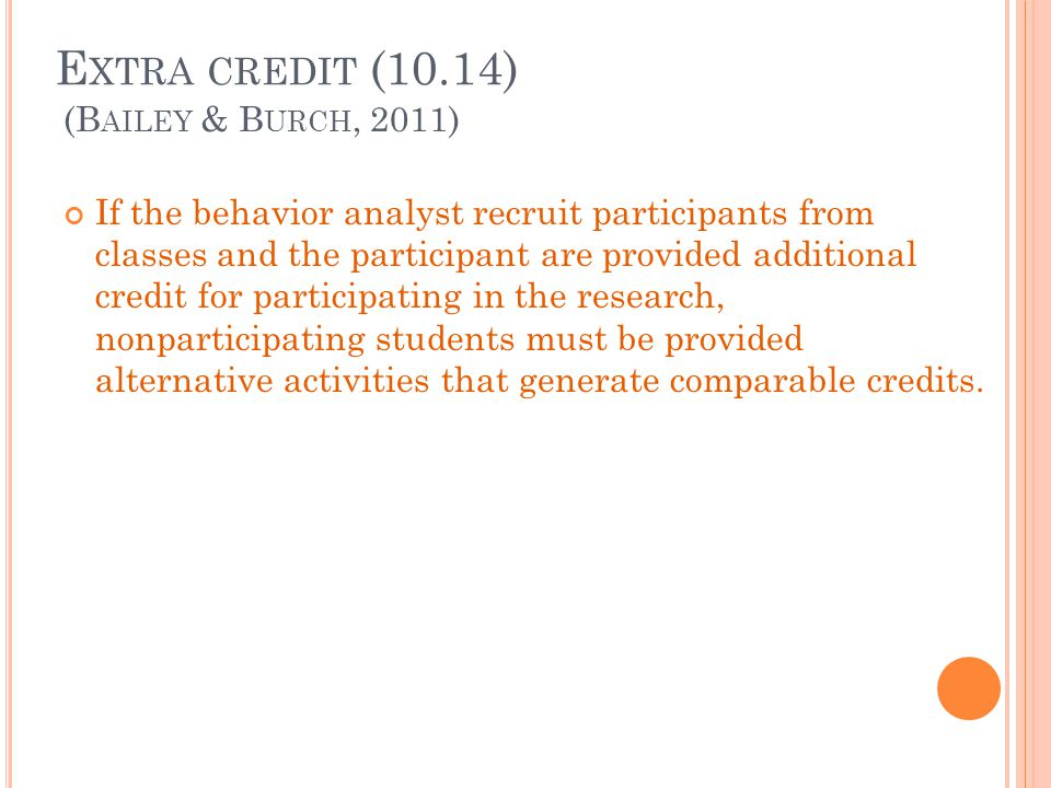 Extra credit (10.14) (Bailey & Burch, 2011)