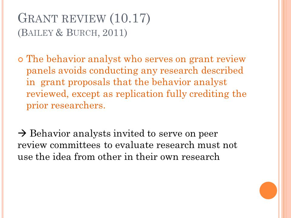 Grant review (10.17) (Bailey & Burch, 2011)