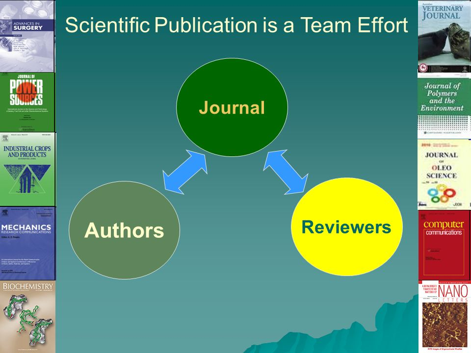 Scientific Publication is a Team Effort