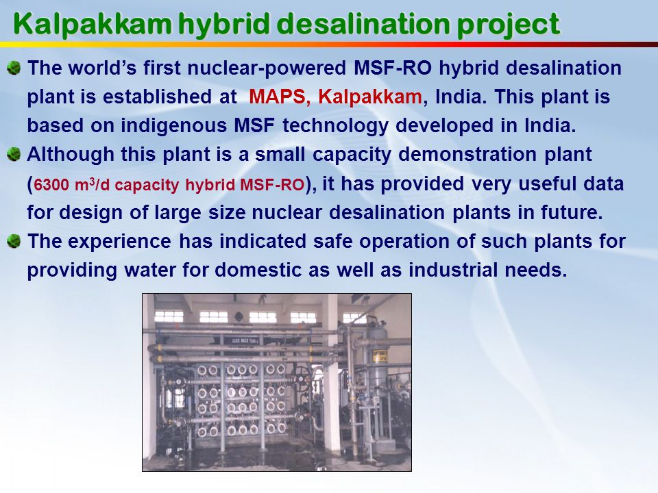 Kalpakkam hybrid desalination project