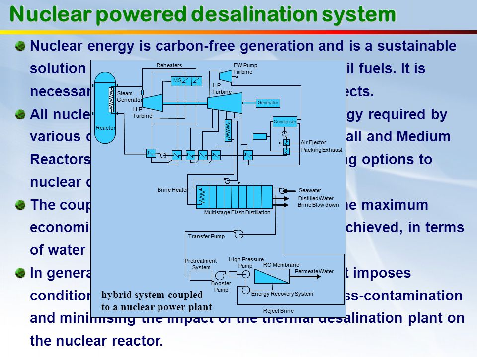 Nuclear powered desalination system