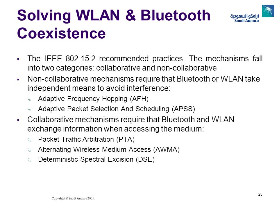 Solving WLAN & Bluetooth Coexistence