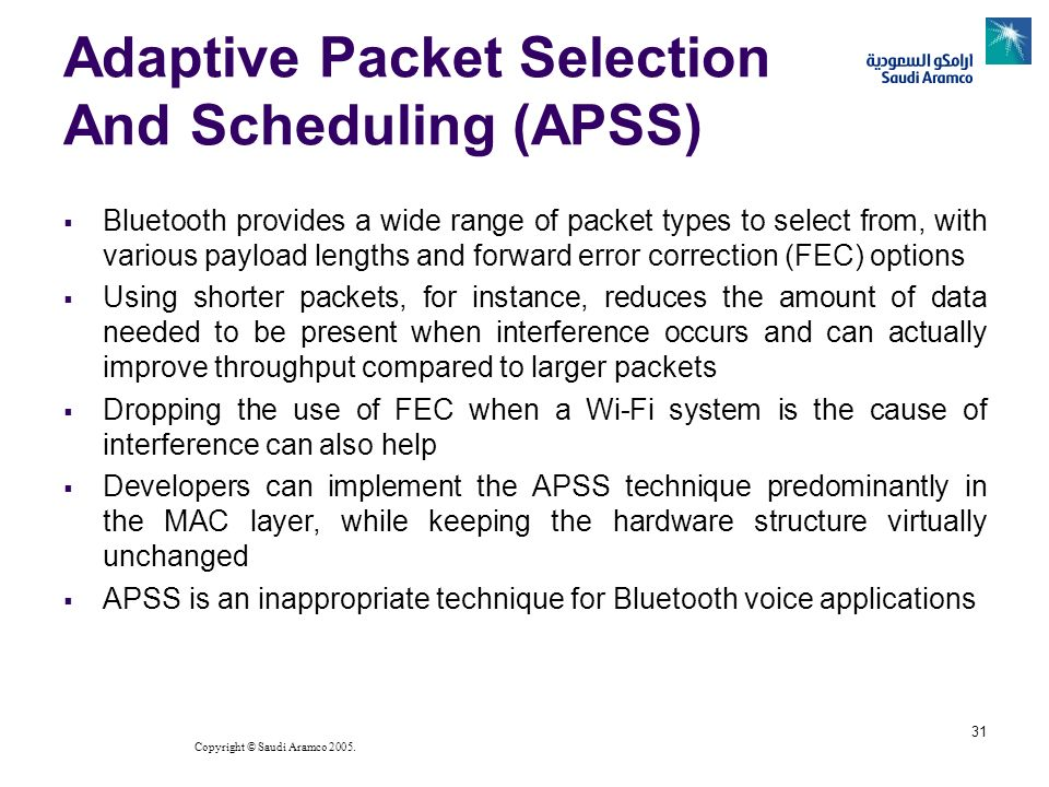 Adaptive Packet Selection And Scheduling (APSS)