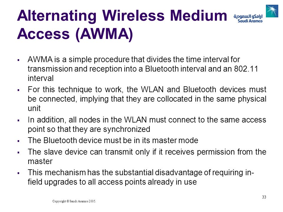 Alternating Wireless Medium Access (AWMA)