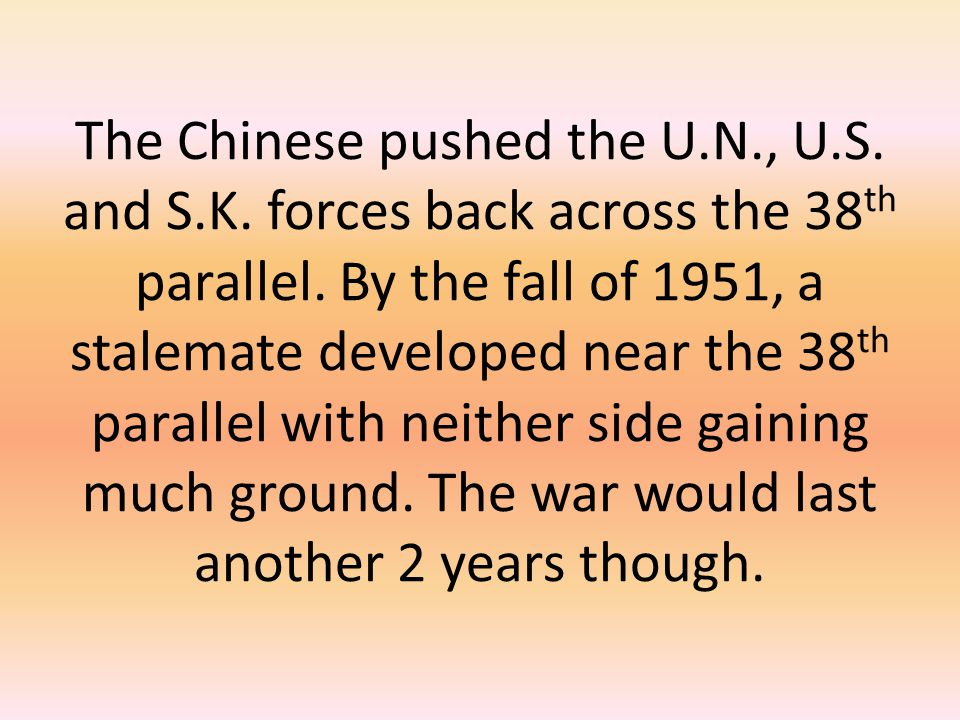 The Chinese pushed the U. N. , U. S. and S. K