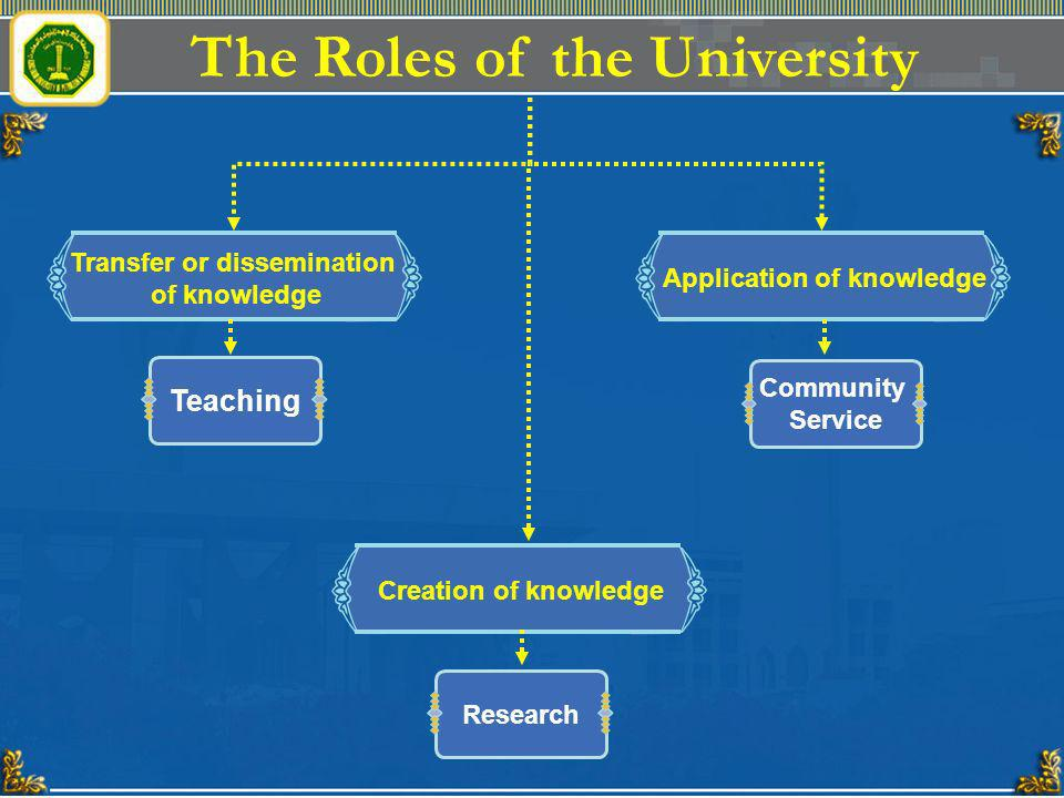 The Roles of the University