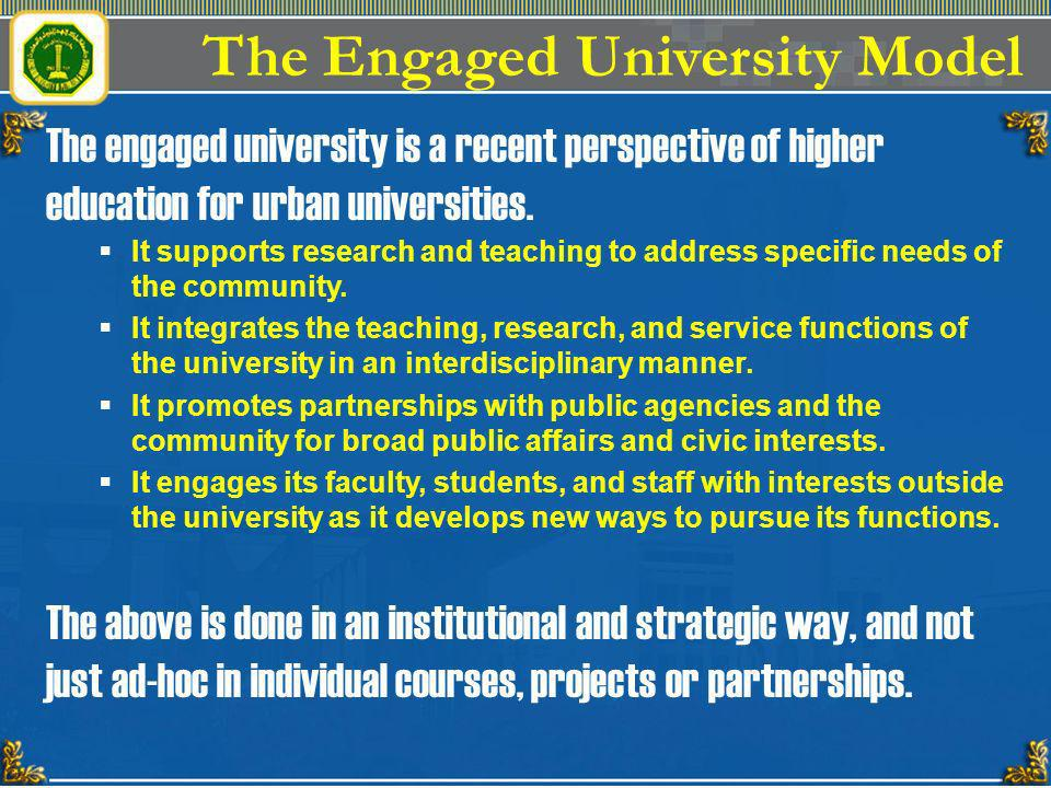 The Engaged University Model