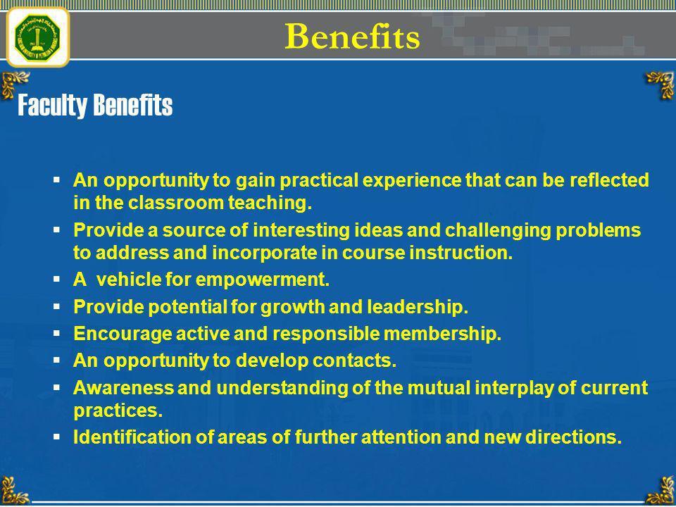Benefits Faculty Benefits