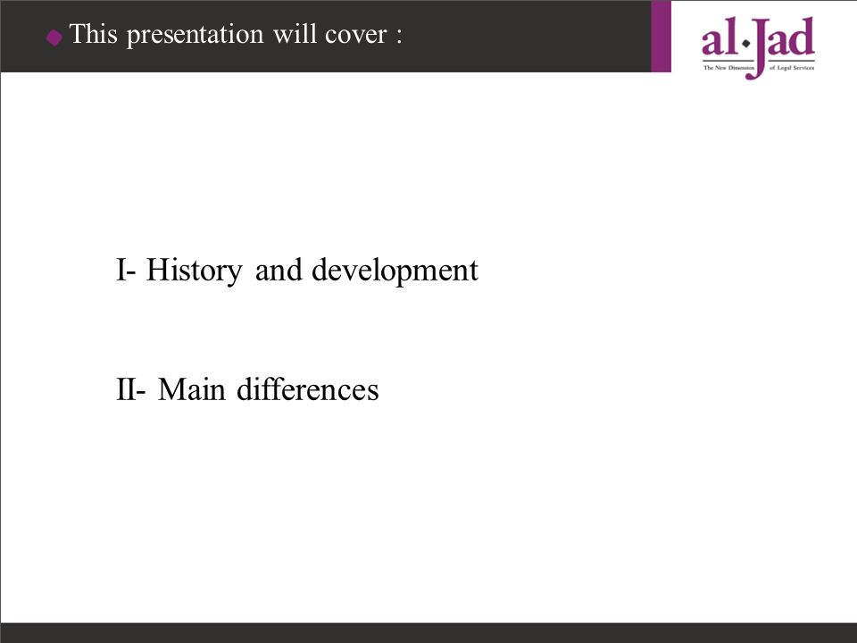 This presentation will cover :