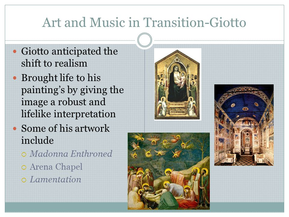 Art and Music in Transition-Giotto