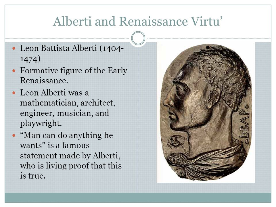Alberti and Renaissance Virtu'