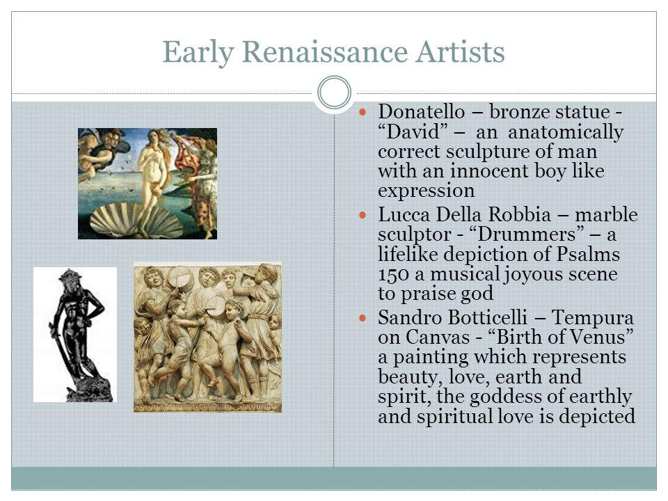 Early Renaissance Artists