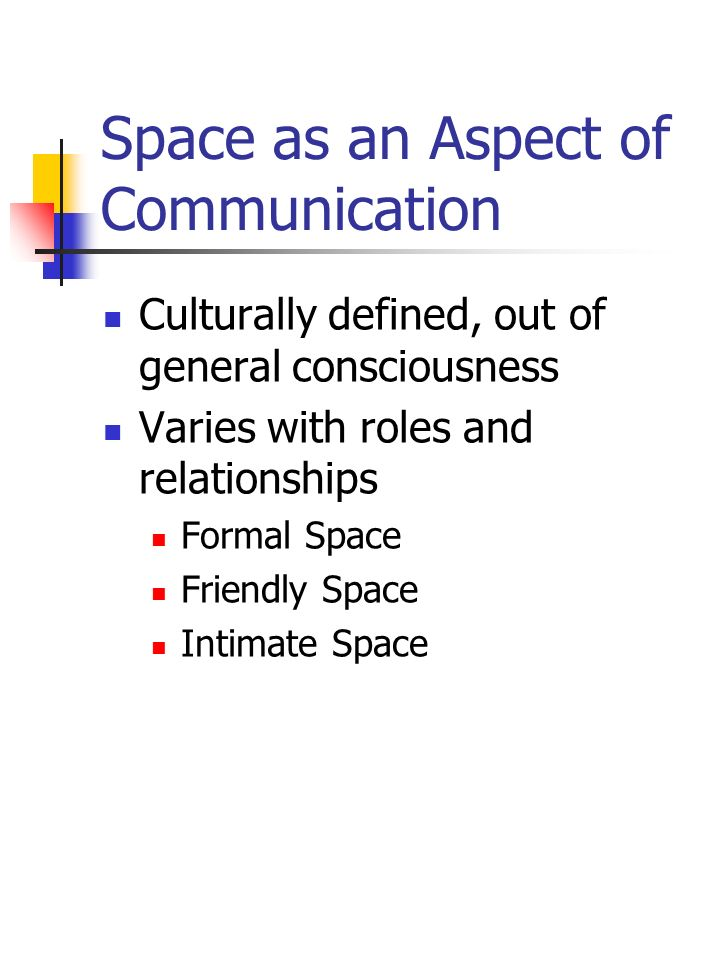 Space as an Aspect of Communication
